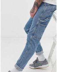 Jack & Jones Intelligence Carpenter Jeans In Blue Denim