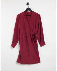 Y.A.S Vestido corto rojo con diseño cruzado