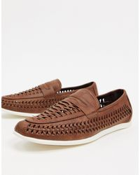 New Look Woven Tassel Loafer - Brown