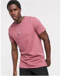 ASOS Longline T-shirt With Side Splits - Purple