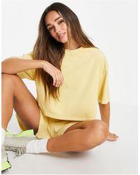 & Other Stories T-shirt oversize d'ensemble en coton biologique - Jaune