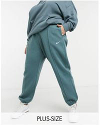 Nike Plus – Oversized-Jogginghose mit kleinem Swoosh-Logo - Blau