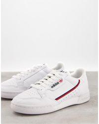 adidas Белые Кроссовки Originals Continental 80-белый