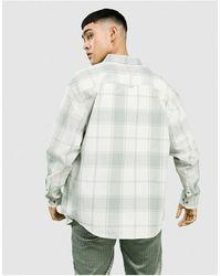 ASOS 90s Oversized Check Shirt - White