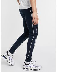 ASOS Skinny joggers With Piping - Blue