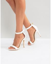 Truffle Collection - Barely There Sandals - Lyst