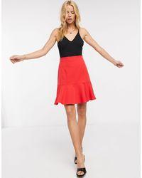 Vesper Pleated Midi Skirt - Red