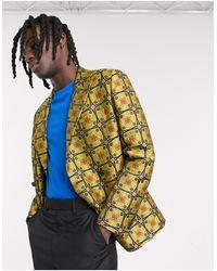 ASOS Slim Double Breasted Blazer - Multicolor