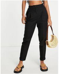 ASOS High-waist Slim Peg Trousers - Black
