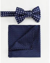 ASOS - Bow Wedding Tie And Pocket Square In Ditsy Floral - Lyst