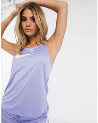 Nike - Фиолетовая Майка С Логотипом-галочкой -фиолетовый - Lyst