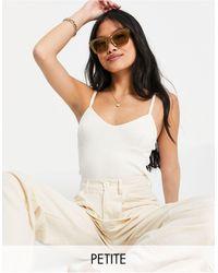 Vero Moda Organic Cotton Blend Knitted Bodysuit - White