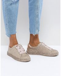 Call It Spring Arminel Glitter Trainers - Pink