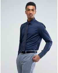 Reiss | Slim Smart Shirt With Classis Collar | Lyst