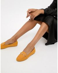 Accessorize - Heart Trim Loafer In Mustard - Lyst