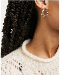 Whistles Irregular Stud Earrings - Metallic