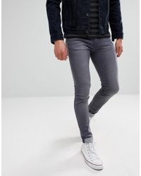 WÅVEN - Super Skinny Spray On Jeans In Charcoal Grey - Lyst