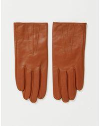 ASOS Светло-коричневые Кожаные Перчатки Для Сенсорных Экранов - Коричневый