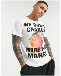 Wesc Max - t-shirt à motif mangue - Blanc