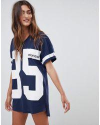Tommy Hilfiger Bold Short Sleeve Nightdress In Navy - Blue