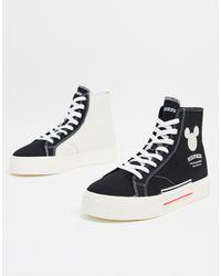 Bershka Mickey - Sneakers alte nere - Nero