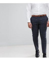 Heart & Dagger - Plus Slim Suit Trouser In Harris Tweed In Check - Lyst