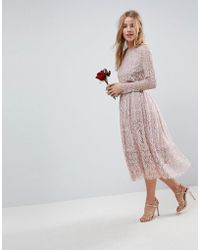 77a05bb715f ASOS Wedding Embellished Crop Top Maxi Dress in Green - Lyst
