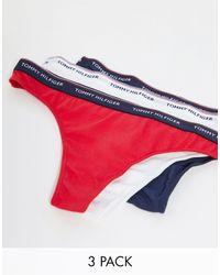 Tommy Hilfiger Набор Из 3 Стрингов (темно-синие/белые/красные) -многоцветный - Красный