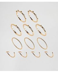 ASOS - Pack Of 12 Ball And Faceted Rings - Lyst