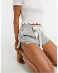 Abercrombie & Fitch Cozy Pajama Co-ord Short - Gray