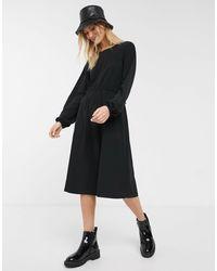Monki Oversized Round Neck T-shirt Dress - Black
