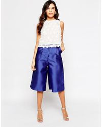 Glamorous Occasion Culottes - Blue
