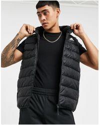 adidas Originals Черный Жилет С Тремя Полосками Adidas Outdoors-черный Цвет