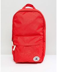 Converse - Chuck Taylor Patch Backpack In Red - Lyst