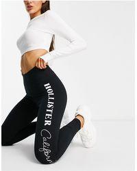 Hollister Leggings à logo - Noir