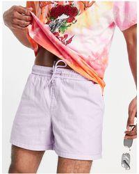 New Look Лавандовые Выбеленные Шорты Без Застежки -фиолетовый Цвет - Пурпурный