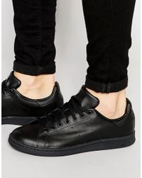 adidas Originals - Stan Smith Leather Trainers In Black M20327 - Lyst
