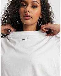 Nike Oversized Wit T-shirt Met Swoosh-logo - Zwart