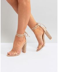Public Desire - Fatale Sparkle Heeled Sandals - Lyst
