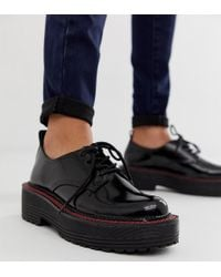 Bershka - Chunky Sole Lace Up Shoe In Black - Lyst