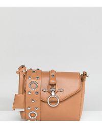 Glamorous - Tan Cross Body Bag With Hardware & Eyelet Detail - Lyst