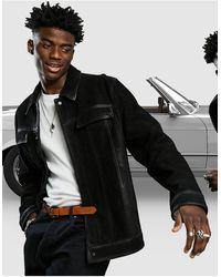 ASOS Leather Western Jacket - Black