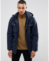 Casual Friday - Parka With Removable Hood - Lyst