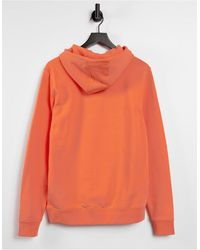 Tommy Hilfiger - Худи Оранжевого Цвета С Логотипом-флажком На Груди Essential-розовый Цвет - Lyst