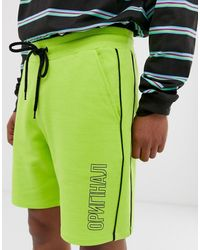 ASOS – Jersey-Shorts - Gelb