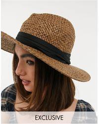 South Beach Соломенная Шляпа-федора -бежевый - Естественный