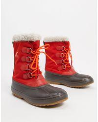 Sorel Красные Нейлоновые Зимние Ботинки -красный