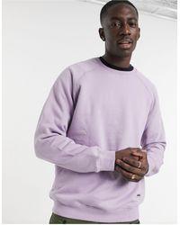 Bershka Базовый Фиолетовый Свитшот С Круглым Вырезом -фиолетовый Цвет - Пурпурный