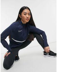 Nike Football Academy Dry Drill - Top blu navy