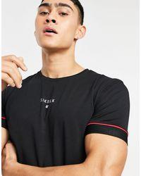 SIKSILK Imperial Raglan Muscle Gym T-shirt - Black